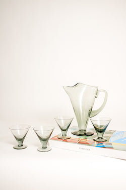 Grey Martini Pitcher Set