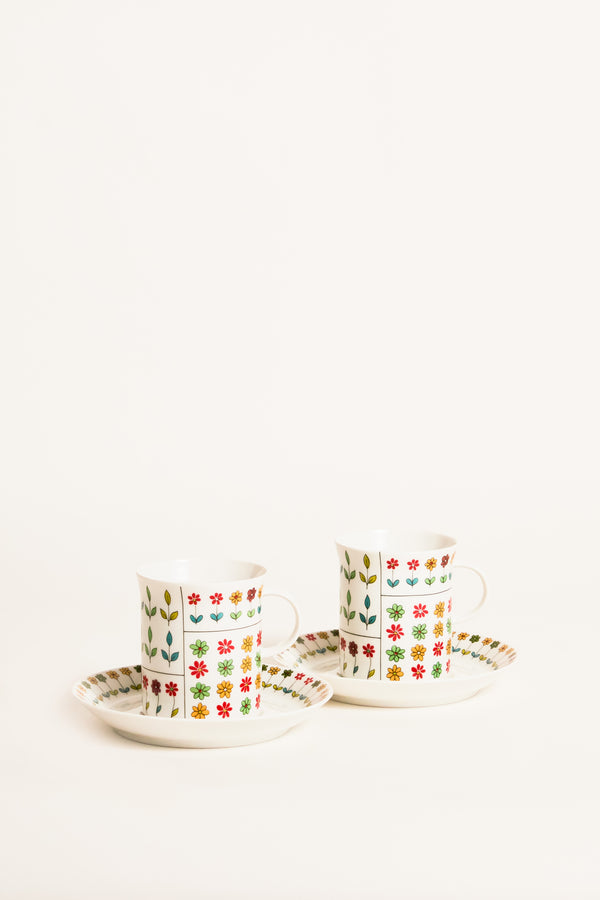 Emilio Pucci Coffee Cups Set of Two