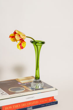 Swedish Fresh Green Bubble Base Bud Vase