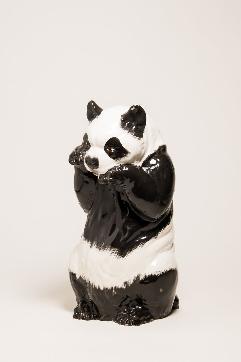 Hand Painted Italian Ceramic Panda