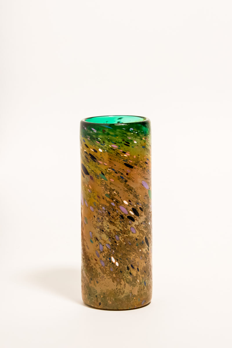 Confetti Swirled Art Glass Vase