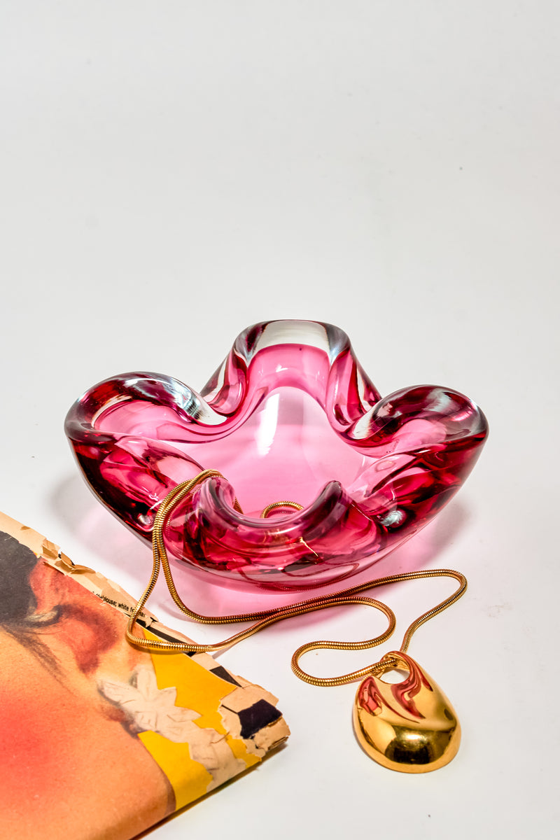 Pink Italian Glass Catchall
