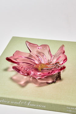 Czech Pink Glass Catchall