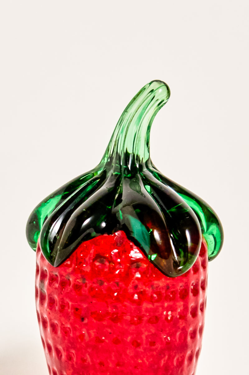 Strawberry Glass Paperweight