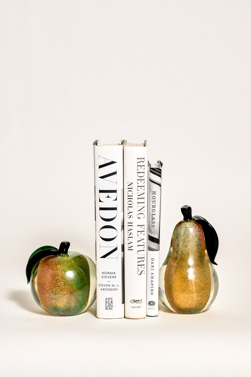 Murano Glass Fruit Bookends