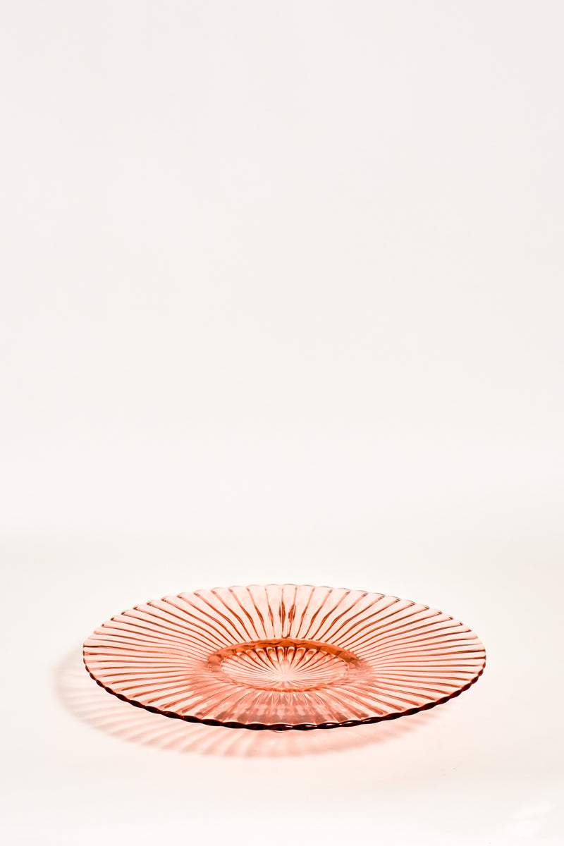 Pink Glass Serving Plate