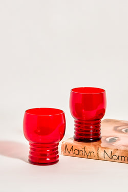 Ruby Red Tumblers Set of Two