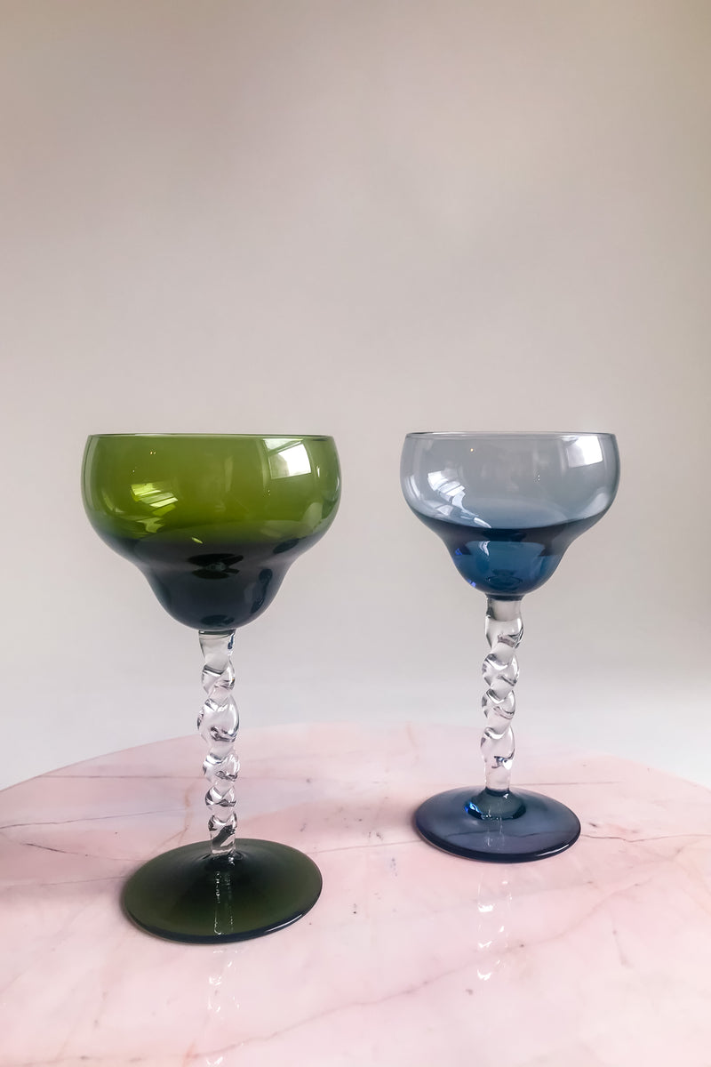 Twisted Stem Cocktail glasses