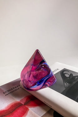 Art Glass Pyramid Paperweight
