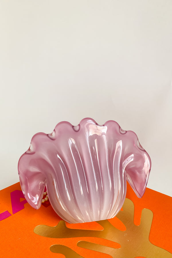 Rare Italian Opalescent Clam Shell Bowl