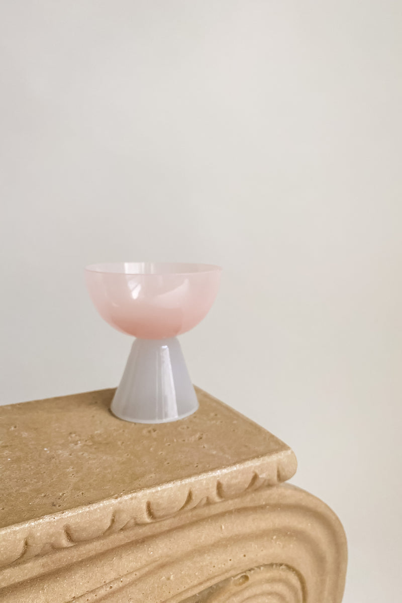 Pink Alabaster Style Glass Bowl