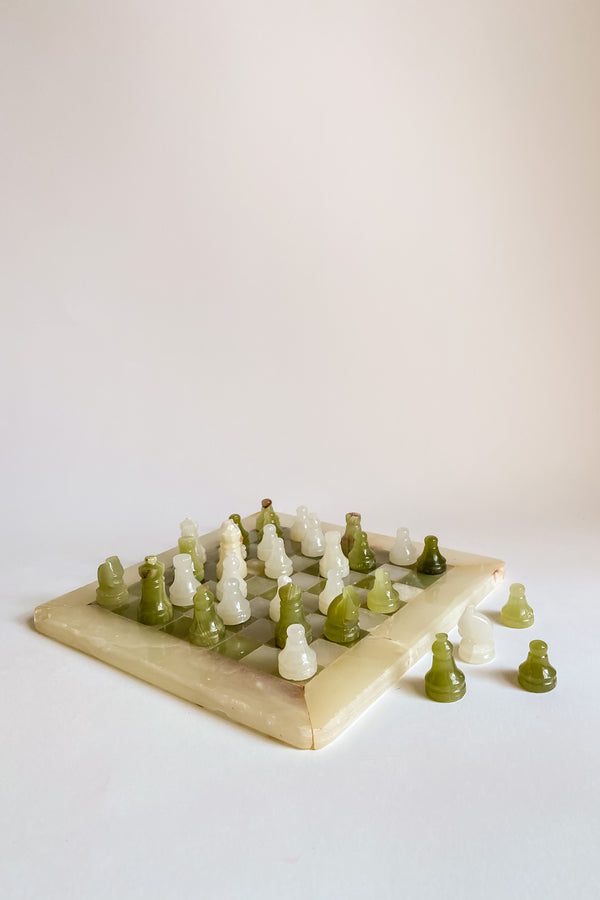 Green Onyx Chess Set