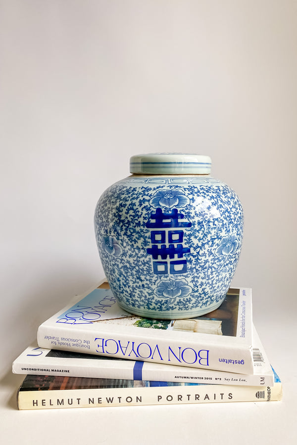 Small Chinoiserie Ceramic Jar