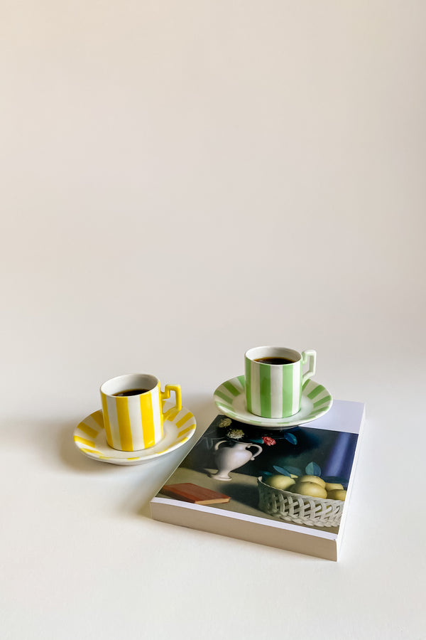 Lemon & Spearmint Italian Demitasse Set