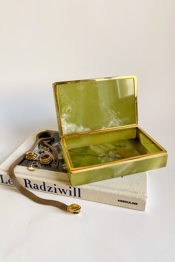 Onyx Green Jewelry Box