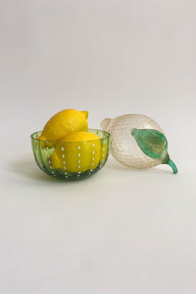 Green Handblown Bowl