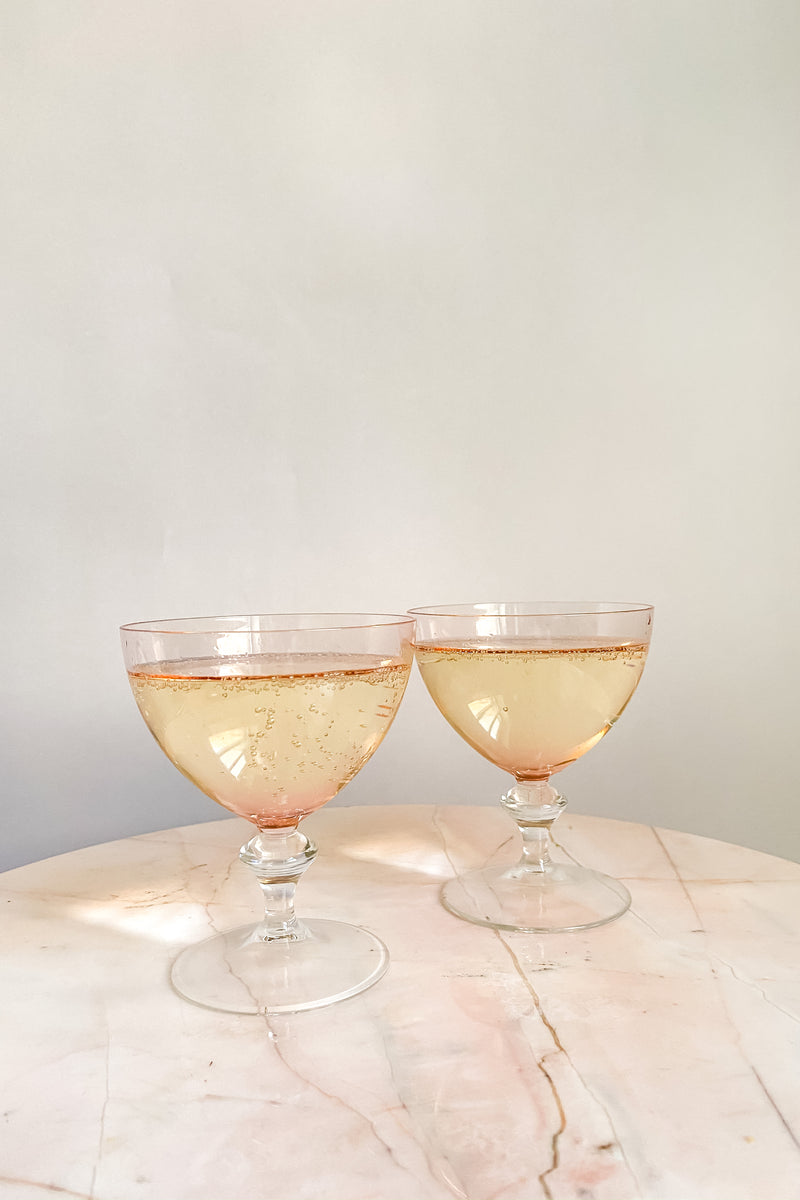 Light Pink Champagne/Cocktail Glasses