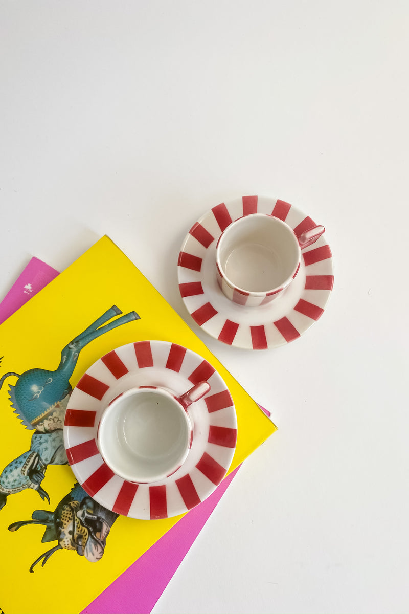 Light Lipstick Red Italian Demitasse Set