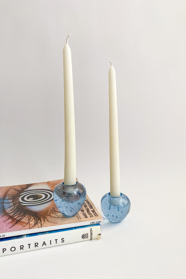 Murano Bubble Blue Candle Holder