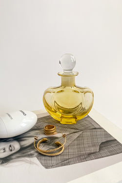 Italian Light Yellow Perfume Bottle
