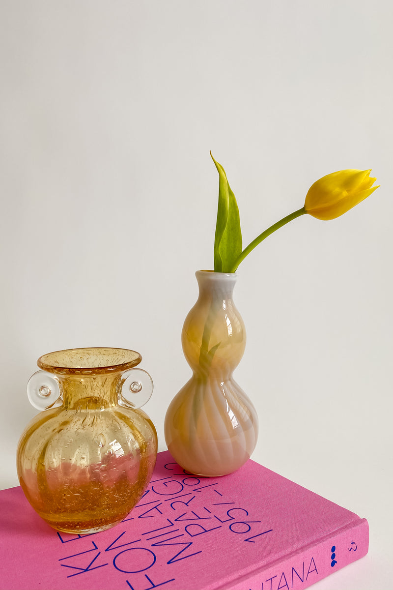 Opalescent Pale Yellow Artist Vase