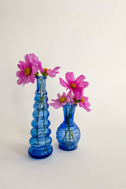 Blue Tiered Bud Vase