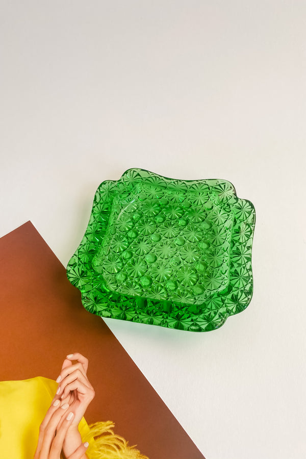 Emerald Green Glass Catchall
