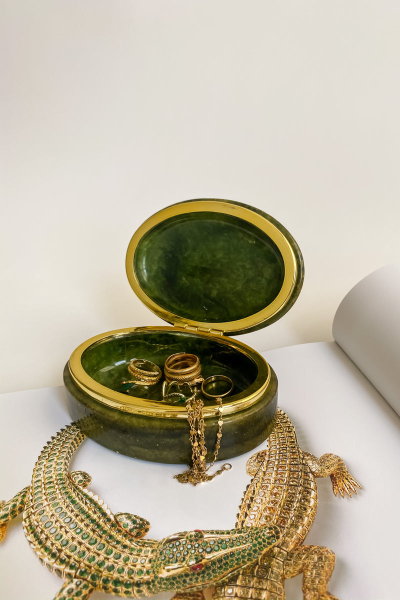 Moss Green Jewelry Box