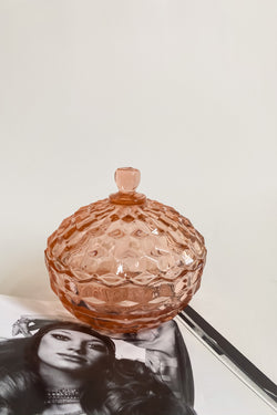 Pink Pressed Glass Catchall
