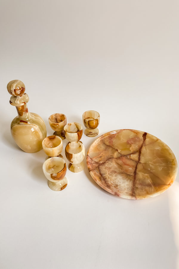 Alabaster Decanter Set