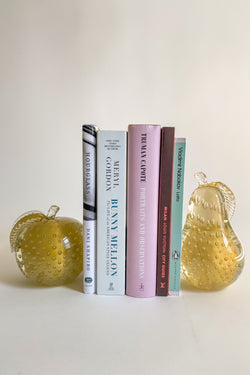 Gold Bubble Murano Fruit Bookends
