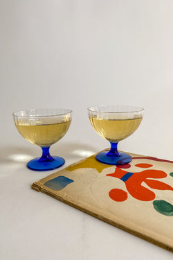 Blue Stem Cocktail Glasses