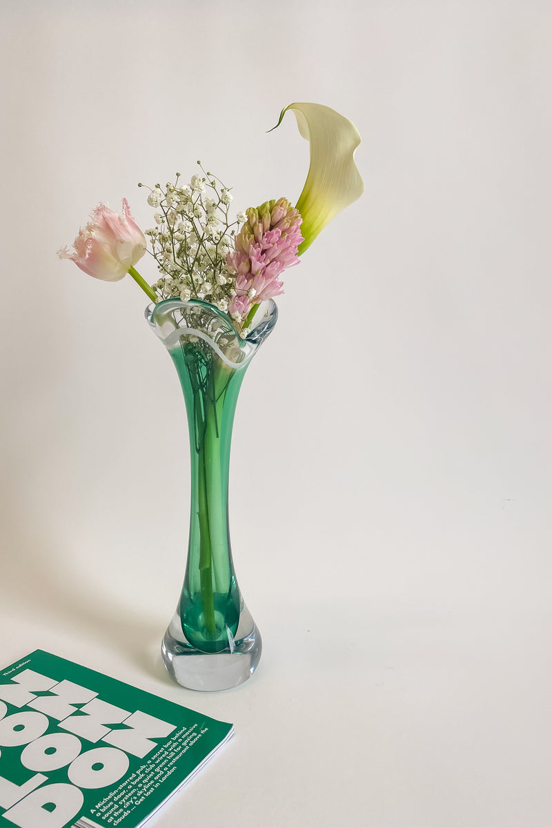 Swedish Emerald Glass Vase