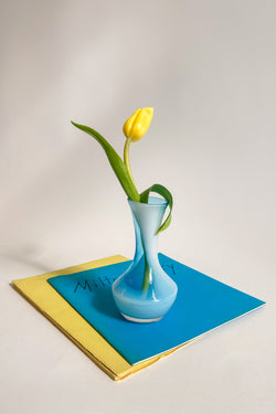 Light Blue Bud Vase