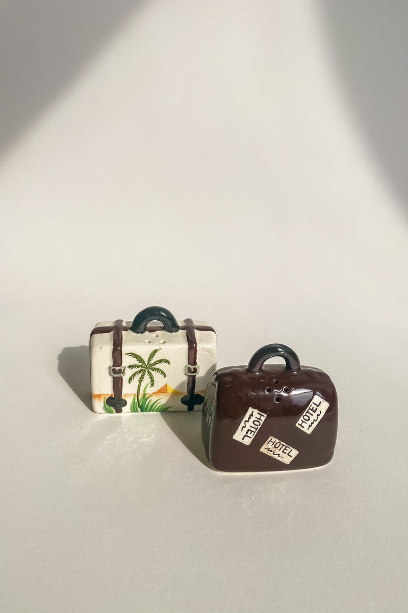 Luggage Salt & Pepper Shakers