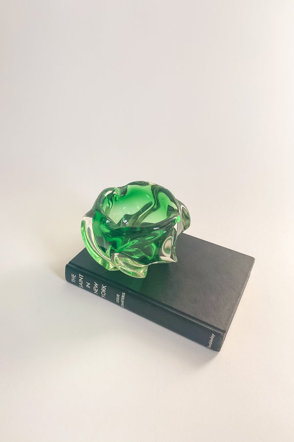 Green Murano Candy Bowl