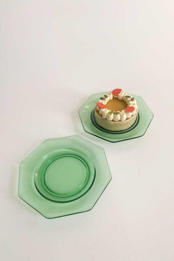 Green Glass Plates