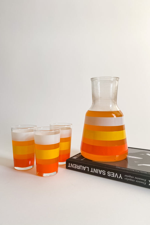 Candy Cane Carafe and Glasses