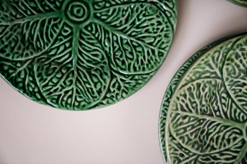 Leaf Earthenware Plates