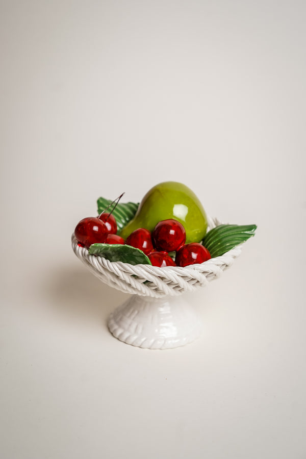 Italian Ceramic Fruit Basket