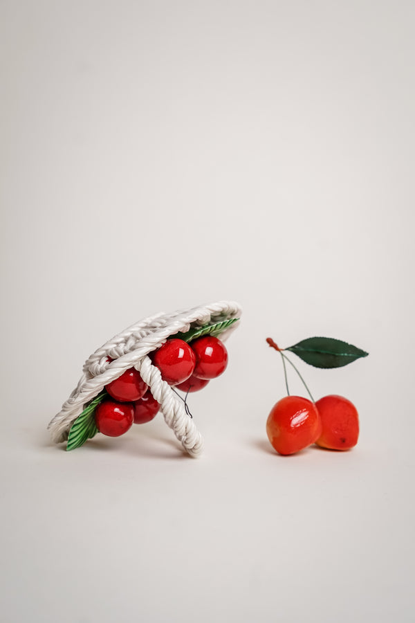 Italian Ceramic Cherry Basket