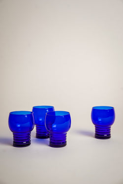 Art Deco Blue Shot Glasses