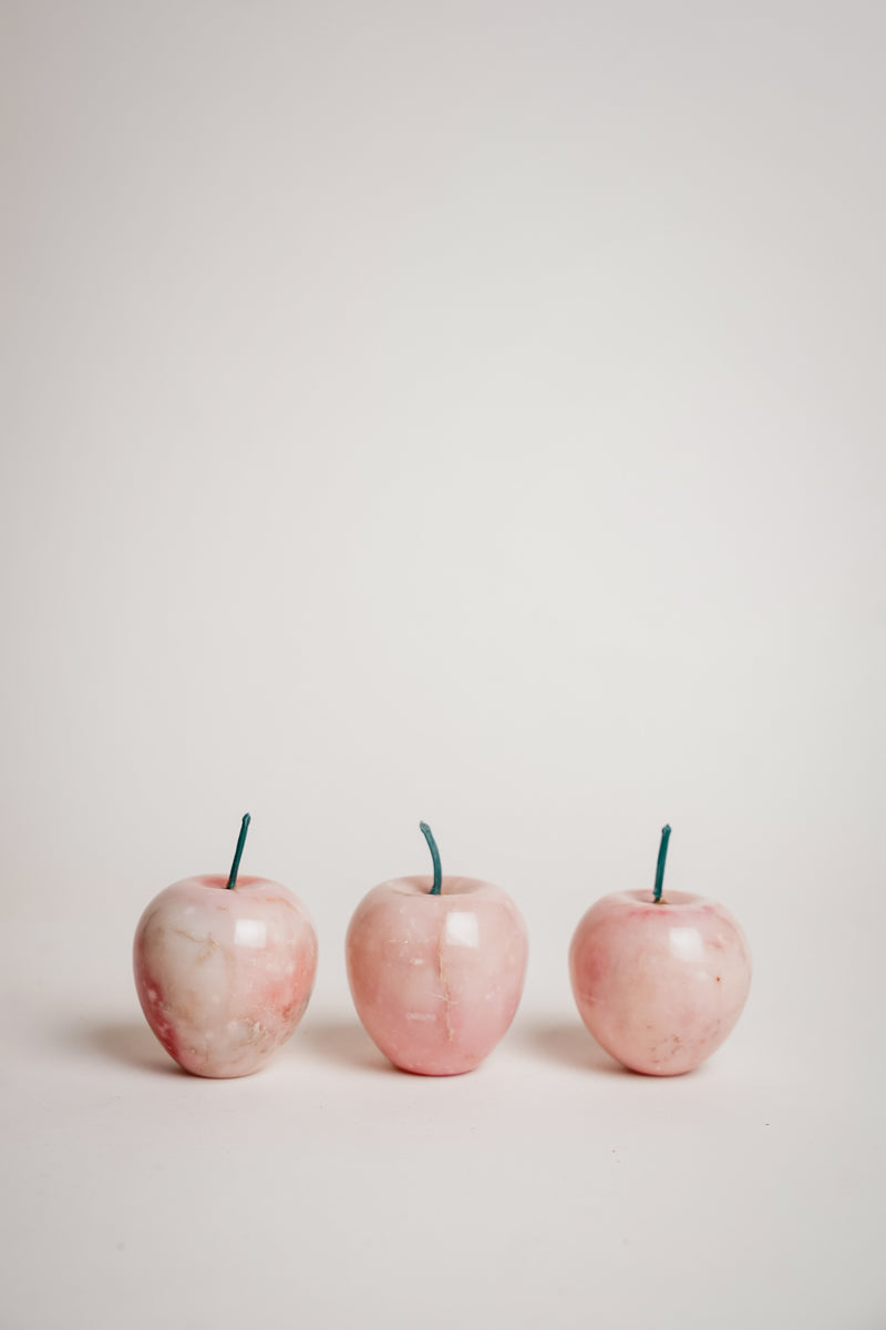 Pink Marble Apple Set