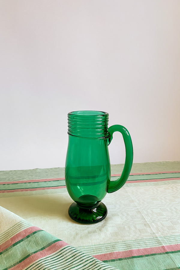 Jade Green Pitcher Vase
