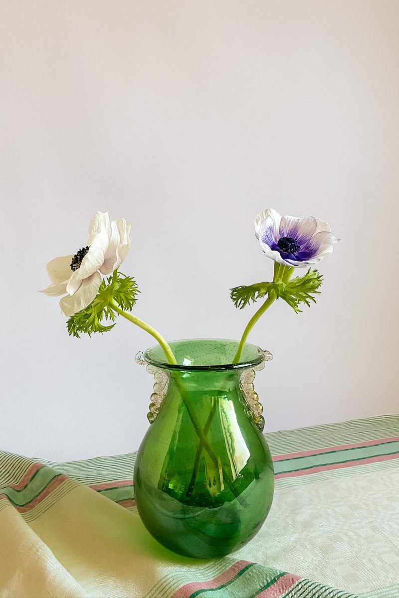 Green Murano Bubble Vase
