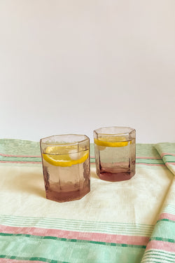 Pale Lilac Octagonal Tumblers