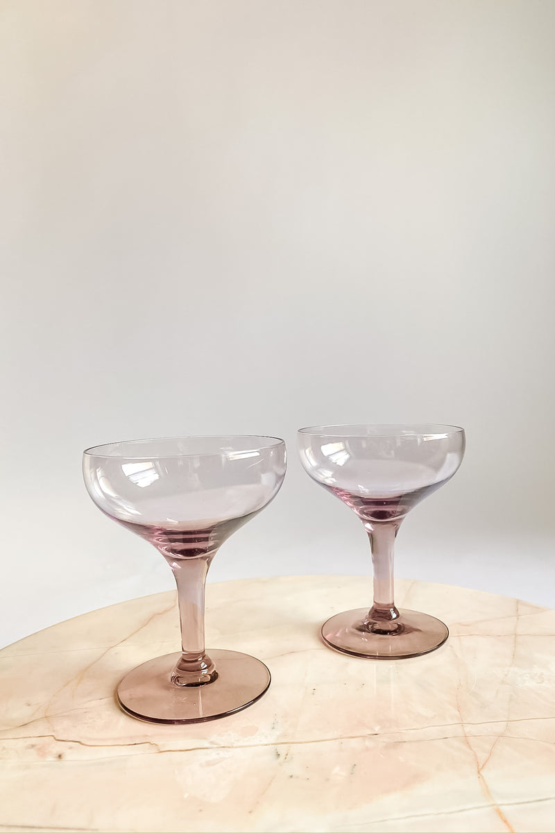 Lilac Champagne Coupe Set
