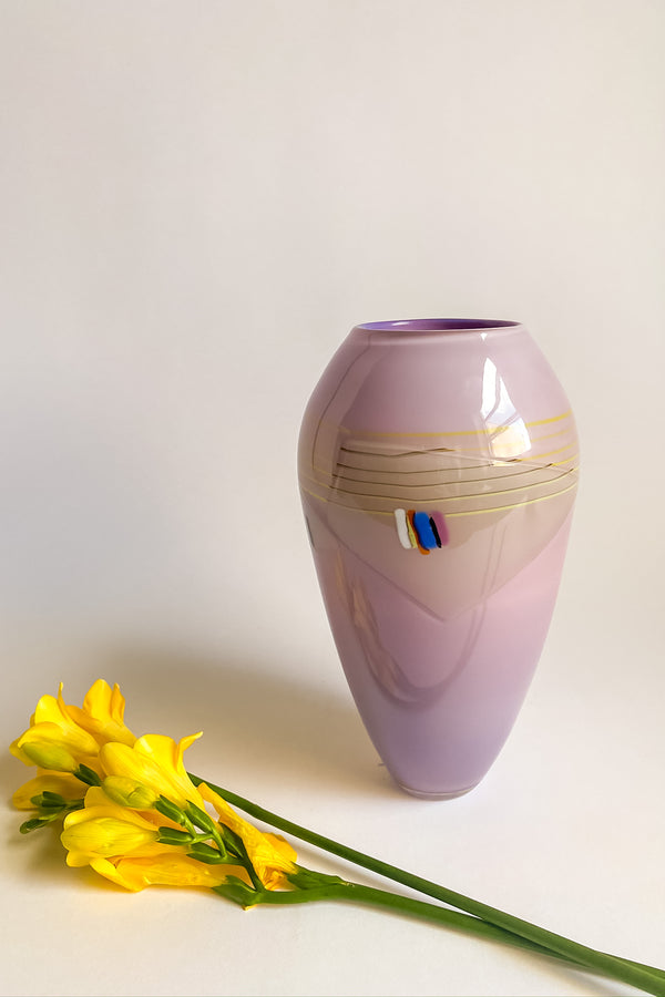 Abstract Art Glass Vase
