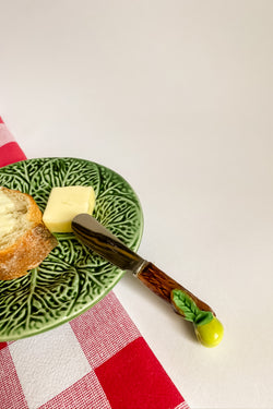French Ceramic Green Apple Knife