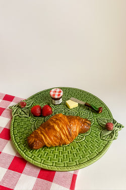 Ceramic Strawberry Serving Platter